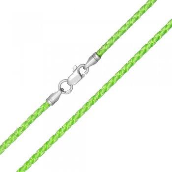 Шелковый шнурок Милан 2016 с серебром | Цвет: Салатовый (3,0 мм)