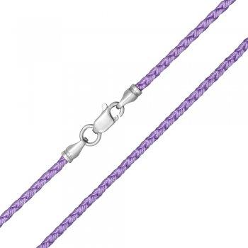 Шелковый шнурок Милан 2016 с серебром | Цвет: Сиреневый (3,0 мм)