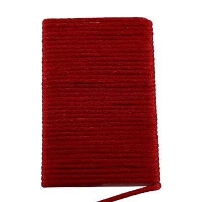 Шелковый шнур гладкий   2.0 мм Цвет: Красный 103