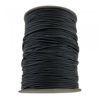 Гладкий вощеный шнур 1.2 мм, Черный 01