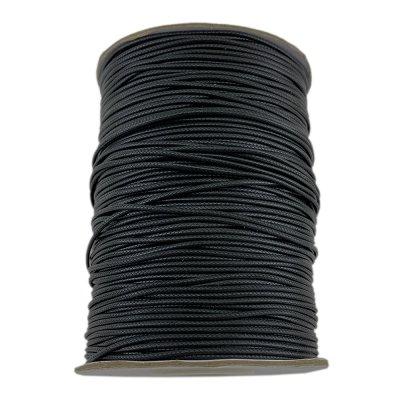 0.5 мм Гладкий синтетический вощеный шнур | Цвет: Черный 01