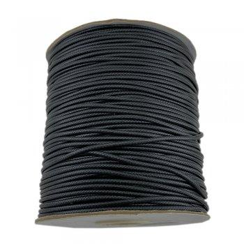 Гладкий вощеный шнур 1.5 мм, Черный 01
