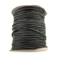 3.0 мм Гладкий синтетический вощеный шнур | Цвет: Черный 01
