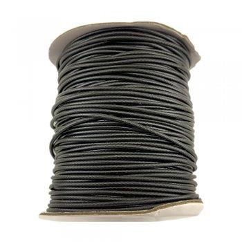 Гладкий вощеный шнур 3.0 мм, Черный 01