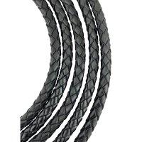Кожаный плетеный шнур Ultra Sky 7.0 мм Черный 01