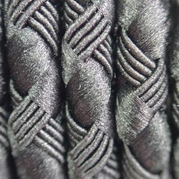 Шелковый шнур Милан 222 | 3.0 мм, Цвет: Черный 01