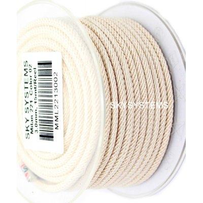 Шелковый шнур Милан 221 | 3.0 мм, Цвет: Крем 02