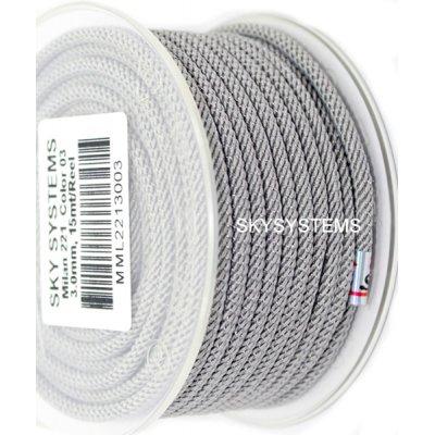 Шелковый шнур Милан 221 | 3.0 мм, Цвет: Серый 03