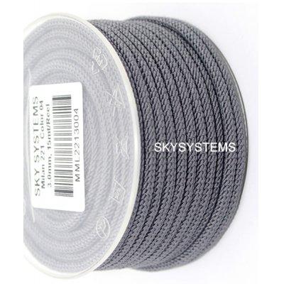 Шелковый шнур Милан 221 | 3.0 мм, Цвет: Серый 04