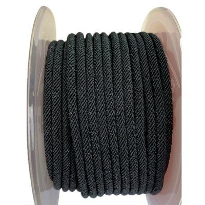 Шелковый шнур Милан 221 | 3.0 мм, Цвет: Черный 06
