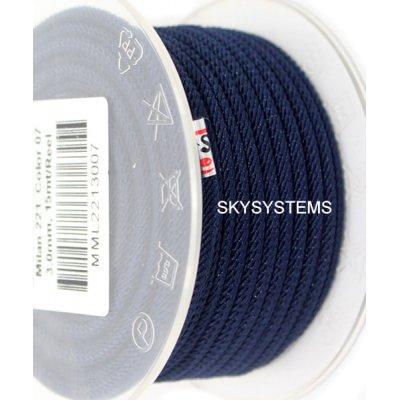 Шелковый шнур Милан 221 | 3.0 мм, Цвет: Синий 07