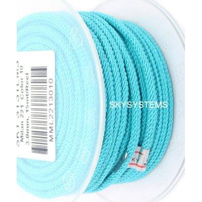 Шелковый шнур Милан 221 | 3.0 мм, Цвет:Бирюза 10