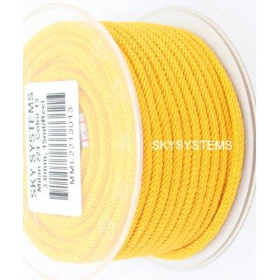 Шелковый шнур Милан 221 | 3.0 мм, Цвет: Желтый 13
