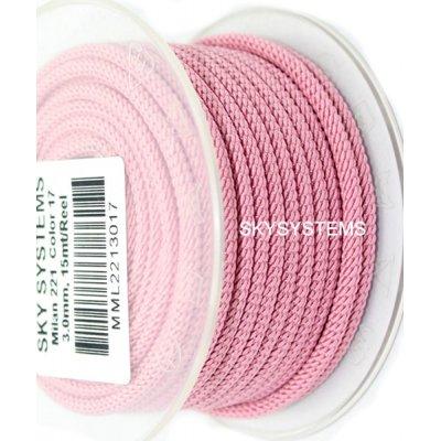 Шелковый шнур Милан 221 | 3.0 мм, Цвет: Розовый 17
