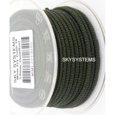 Шелковый шнур Милан 221 | 3.0 мм, Цвет: Зеленый 19