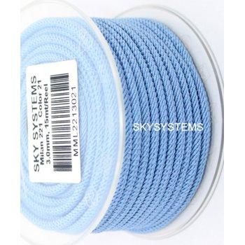 Шелковый шнур Милан 221 | 3.0 мм Цвет: Голубой 21