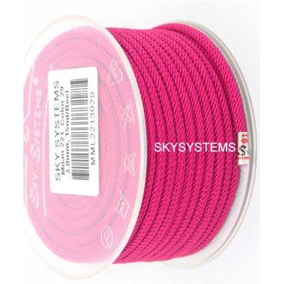 Шелковый шнур Милан 221 | 3.0 мм, Цвет: Фуксия 29