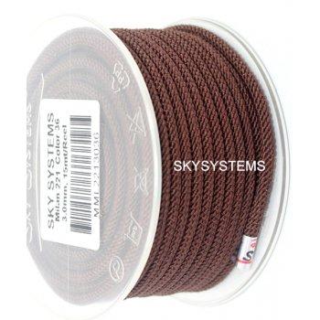Шелковый шнур Милан 221   3.0 мм Цвет: Коричневый 36