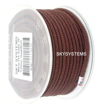 Шелковый шнур Милан 221 | 3.0 мм, Цвет: Коричневый 36