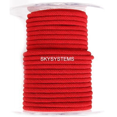 Шелковый шнур Милан 221 | 4.0 мм, Цвет: Красный 30
