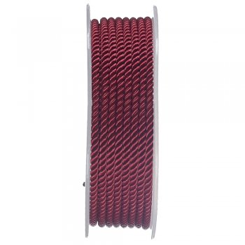 Шелковый шнур Милан 226 | 3.0 мм, Цвет: Бордовый 15
