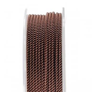 Шелковый шнур Милан 226 | 3.0 мм, Цвет: Светло-коричневый 37