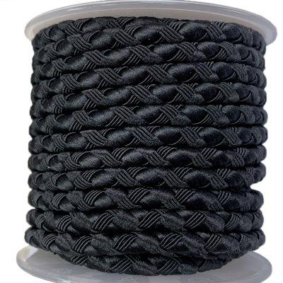 Шелковый шнур Милан 222 | 4.0 мм, Цвет: Черный 19