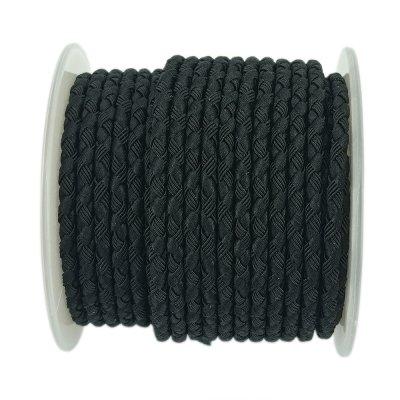 Шелковый шнур Милан 222 | 3.0 мм, Цвет: Черный 19