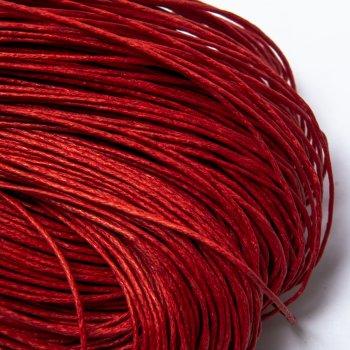 Гладкий вощеный шнур Скай 1.0 мм, Красный 02