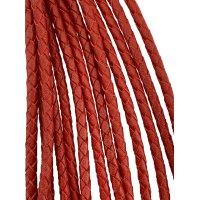 Кожаный плетеный шнур Ultra Sky 3.0 мм Красный 08