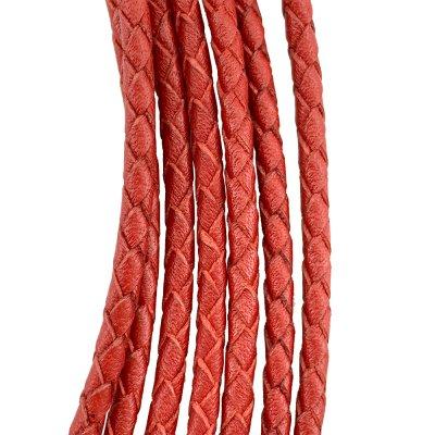 Кожаный плетеный шнур Ultra Sky 4.0/4 мм Красный 08