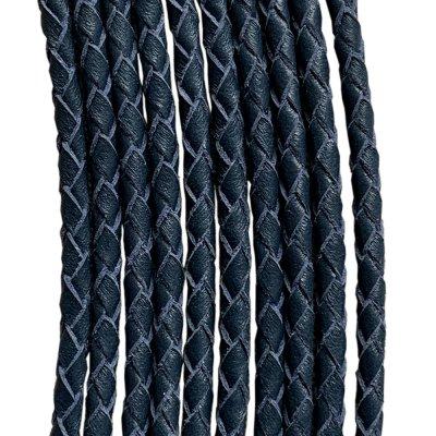 Кожаный плетеный шнур Ultra Sky 3.0 мм Синий 07