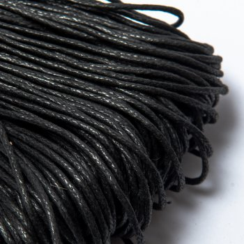 Вощеный хлопковый шнур 1.0 мм Черный 01