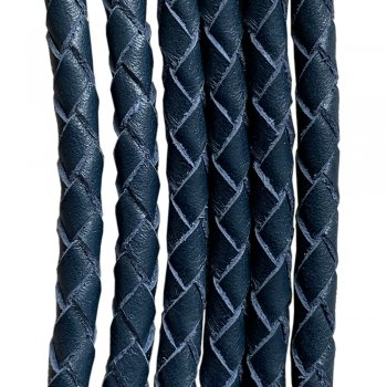 Кожаный плетеный шнур Ultra Sky 4.0/4 мм Синий 07