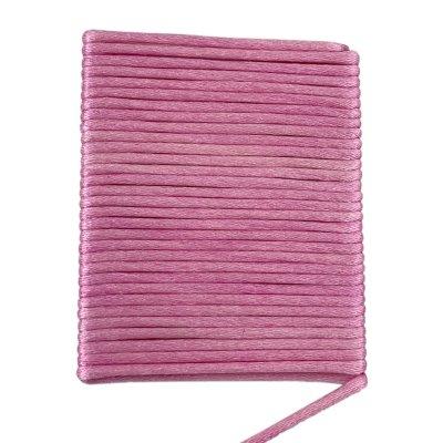 Шелковый гладкий шнур 2.0 мм Розовый 02