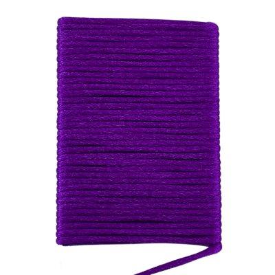 Шелковый гладкий шнур 2.0 мм Баклажан 125
