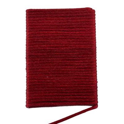 Шелковый гладкий шнур 2.0 мм Бордо 128