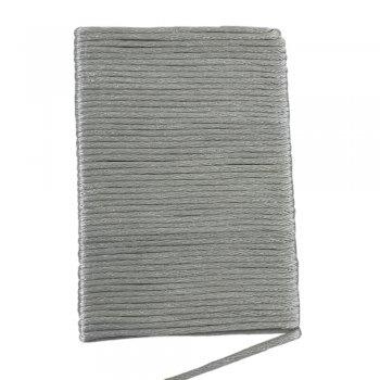 Шелковый шнур гладкий | 2.0 мм Цвет: Серебро 131