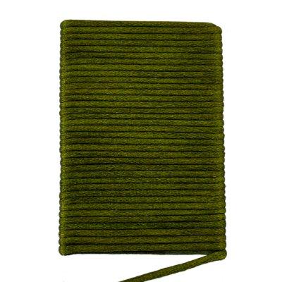 Шелковый гладкий шнур 2.0 мм Темно-зеленый 10