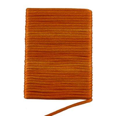 Шелковый гладкий шнур 2.0 мм Оранжевый 18