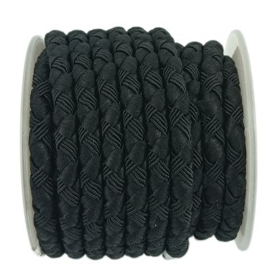 Шелковый шнур Милан 222 | 5.0 мм, Цвет: Черный 06