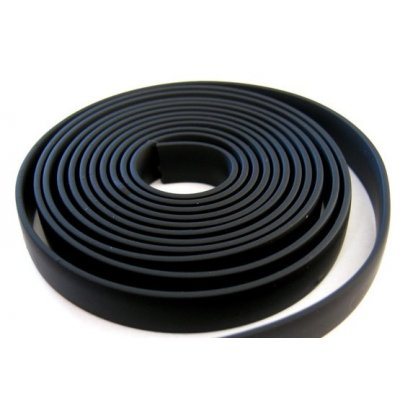 Плоский каучуковый шнур 16х2.5 мм Черный 36
