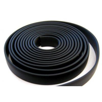 Плоский каучуковый шнур 14х3.5 мм Черный 36