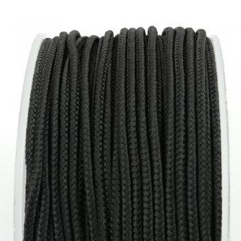 Шелковый шнур Милан 232 | 2.0 мм, Цвет: Черный 01