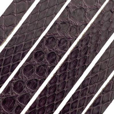 Полоса из кожи питона 8х2 мм (25 см) Бордо 15