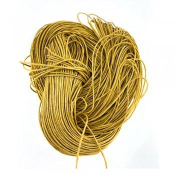 Гладкий вощеный шнур 1.0 мм, Желтый 10
