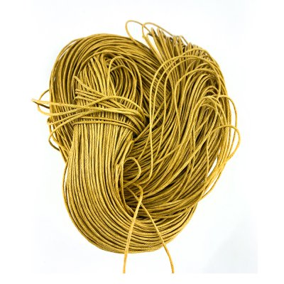 Вощеный хлопковый шнур 1.0 мм Желтый 10