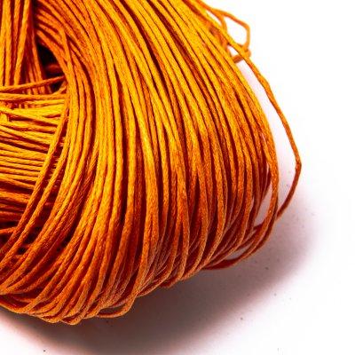 Вощеный хлопковый шнур 1.0 мм Оранжевый 12