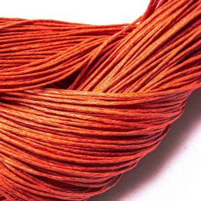 Вощеный хлопковый шнур 1.0 мм Персиковый 13