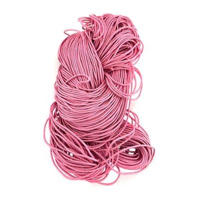 Вощеный хлопковый шнур 1.0 мм Розовый 14